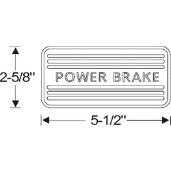 Power brake pedal pad