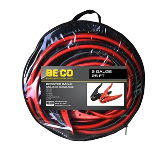 2 Gauge 25 ft Booster Cable