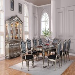 60540 SILVER ANTIQUE DINING TABLE