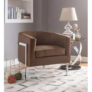 59810 BROWN ACCENT CHAIR