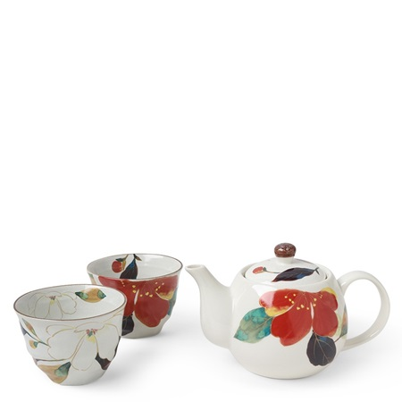 Floral Fall Tea Set