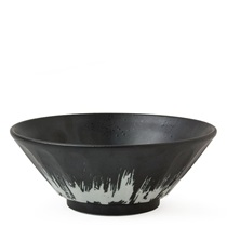 "Bincho Black 7.75"" Noodle Bowl"