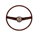 68-69 Standard Steering Wheel (Dark Red)