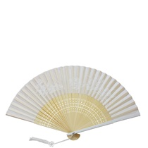 ASSORTED SILK FANS - WHITE