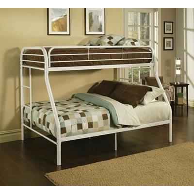 02053WH TRITAN WHITE T/F BUNK BED