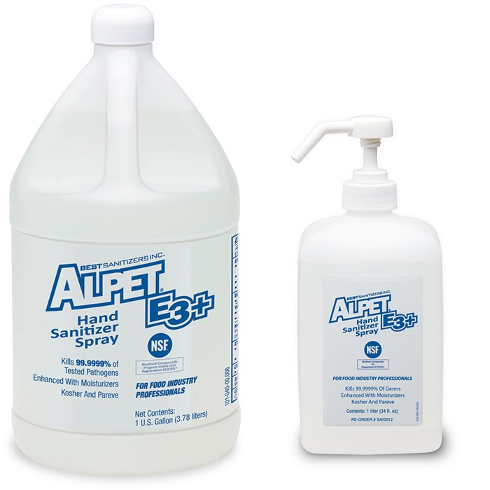 Alpet E3 Plus Alcohol Hand Sanitizer Rinse Best Sanitizers