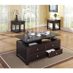 80257 ESPRESSO COFFEE TABLE W/LIFT