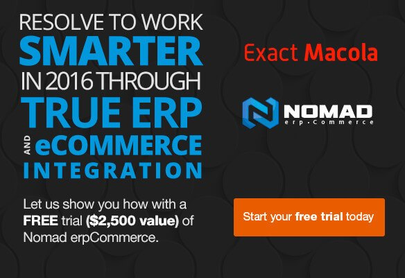 Free trial of Nomad erpCommerce for Exact Macola ERP users