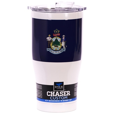 Maine State Flag Chaser 27oz