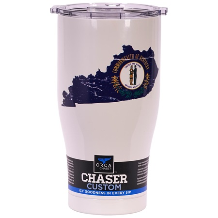Kentucky State Flag Distressed Chaser 27Oz