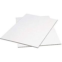 "8.5 X 11"" .016 WHITE CLAYCOAT CHIPBOARD, 500/PKG"