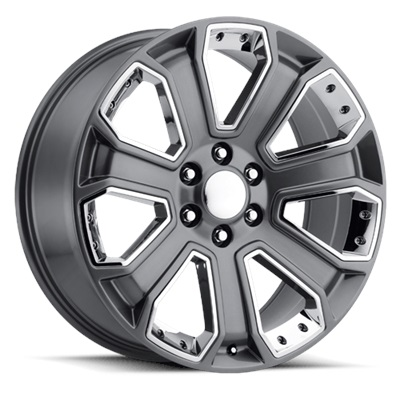 OE Replica 588 Series 22x9 6x139.7 - Gray/Chrome Inserts