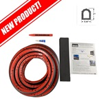 Ramp Gate Kit - Ribbed Hollow Bulb Seal - 35ft