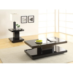 80726 BLACK COFFEE TABLE