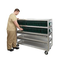 "New Age Industrial 58-1/2""W x 28""D x 77-15/16""H, 375 Tray Capacity Flex Tray Drying Rack"