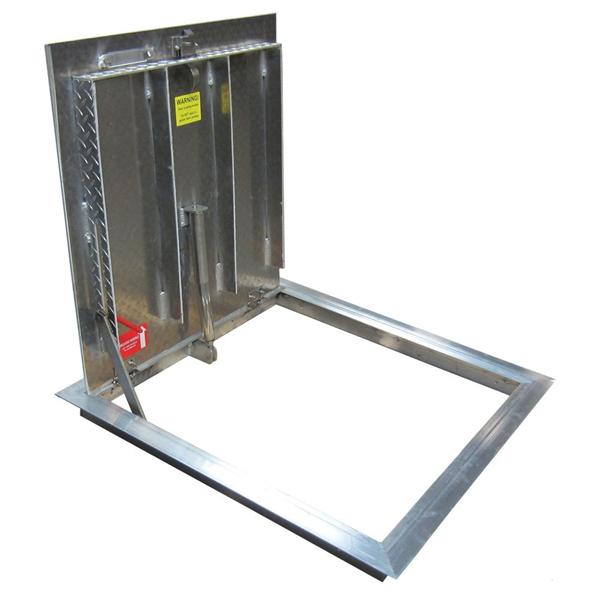Existing Opening Floor Door, Aluminum, 300psf