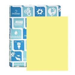 8.5 X 11 65 LB CANARY EARTHCHOICE OPAQUE COVER PAPER, 82479, 250/RM