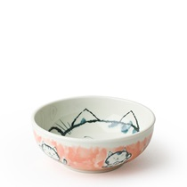 "FORTUNE CAT 5"" BOWL PINK"