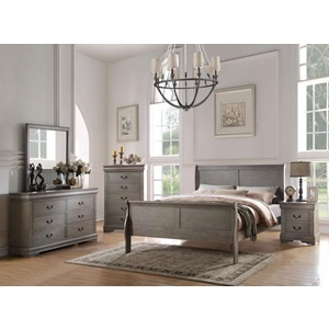 23857EK LOUIS PHILIPPE GRAY E.KING BED