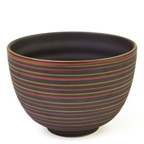 "Tri Color Striped 4.75"" Bowl"