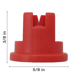 Polyacetal Red 80° Nozzle Spacing