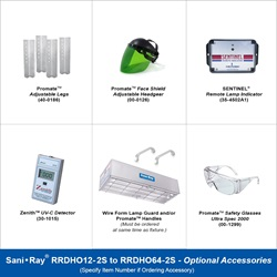 Sani•Ray RRDHO18-1S to RRDHO64-1S Optional Accessories