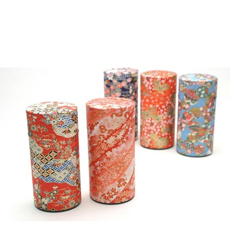 Tea Canister with Washi Paper 200g