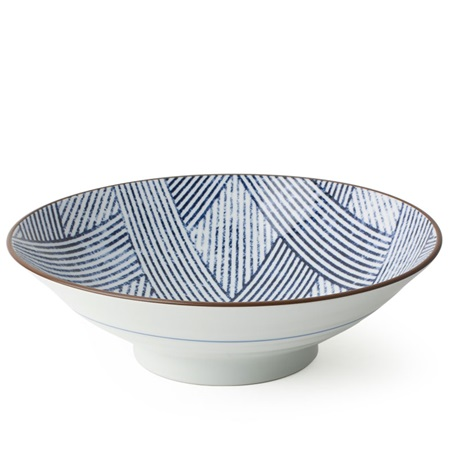 "Aizome Shima Ami 9.75"" Serving Bowl"