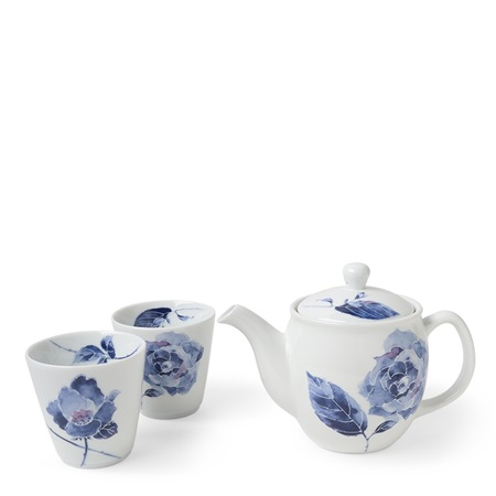 Tea Set Blue Rose