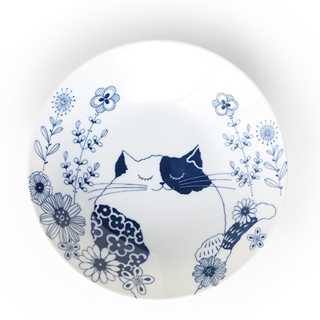 Blue Cats Plate Miyu