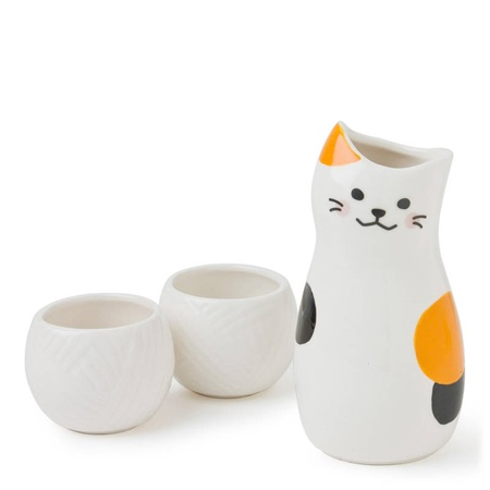 Sake Set Calico Cat