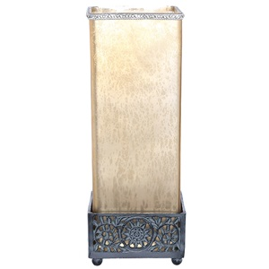 "14.75""H Studio Art Glass Square Jeweled Uplight"