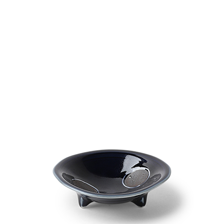 "Dotted Navy 4"" Sauce Bowl"
