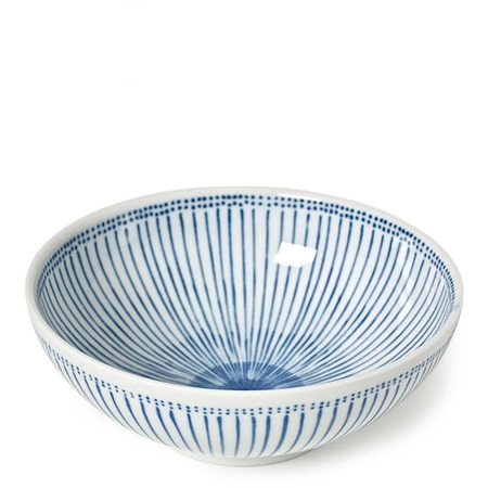"Blue Stripes 8.25"" Bowl"
