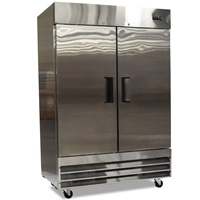 "FOODSERVICE ESSENTIALS MRFZ-2D SS SERIES TWO DOOR 54"" W REACH-IN FREEZER"