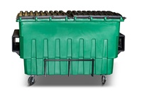 2 Cubic Yard Organics Front End Load Plastic Containers