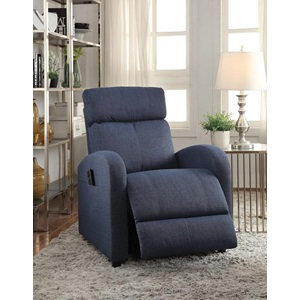 59347 BLUE RECLINER W/POWER LIFT