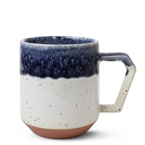 Chips 12 oz. Mug Navy Drip Glaze