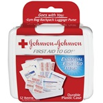 "Johnson & Johnson® Red Cross First Aid Kit ""To Go"""