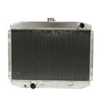 "1967-70 Mustang 24"" High Perf. Aluminum Radiator w/Trans Cooler - Big Block"