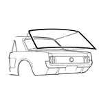 69-70 Cougar Rear Window Weather Seal