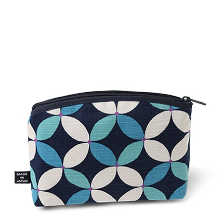 PURSE BLUE PATTERN ZIPPERED