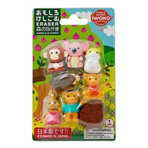 Iwako Forest Friends Eraser Set