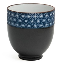 Black Sashiko Teacup