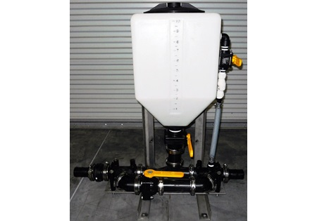 10 Gallon Chemical Eductor Tank & Frame Set