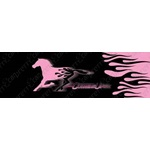 Cowgirl Up Flame Horse-Pink or Silver