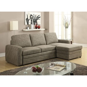 51645 DERWYN L-BROWN SECTIONAL SOFA