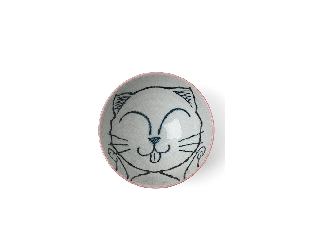 "Pink Cat 5"" Rice Bowl"