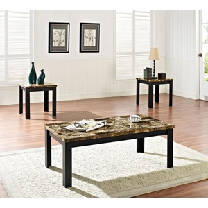 80320 3PC PK C/E TABLES W/BK FAUX M