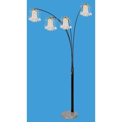 03678BK KIT BLACK FLOOR LAMP W/MARBLE BASE
